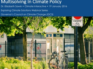 Ten Strategies For Capturing Multiple Benefits in Climate Action Plans