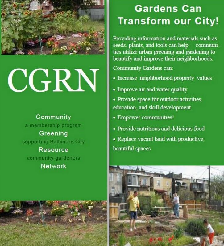 Baltimore's Community Greening Resource Network Supports